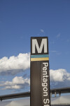 Pentagon Metro Station Sign