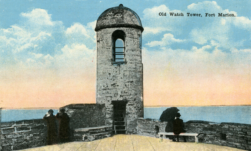 People at the Fort Marion Watch Tower