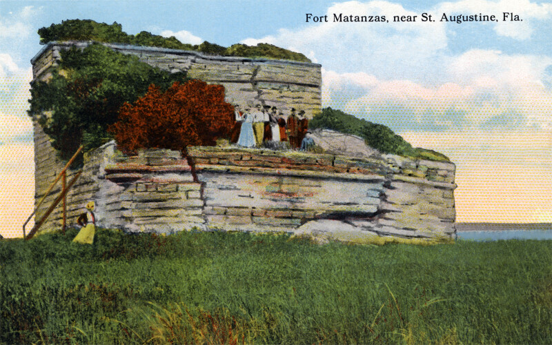 People Visiting Fort Matanzas