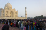 People Waiting Outsied the Taj Mahal