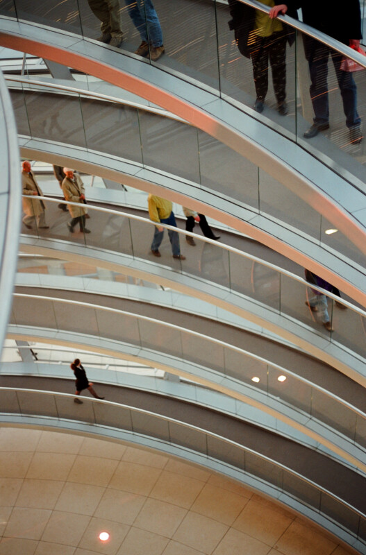 People Walking on the Ramp in the Reichstag Dome