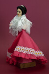 Philippines Handcrafted Filipina Lady with Silk Skirt and Lace Shawl (Three Quarter View)