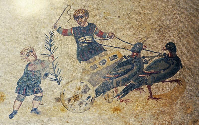 Piazza Armerina, Mosaics, Children's Chariots
