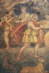 Piazza Armerina, Mosaics, Odysseus and His Men Offer Wine to Polyphemus