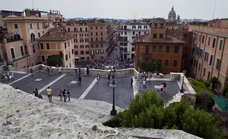 Piazza di Spagna and the Fontana della Barcaccia