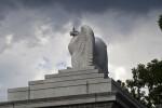Pigeon on Eagle Statue