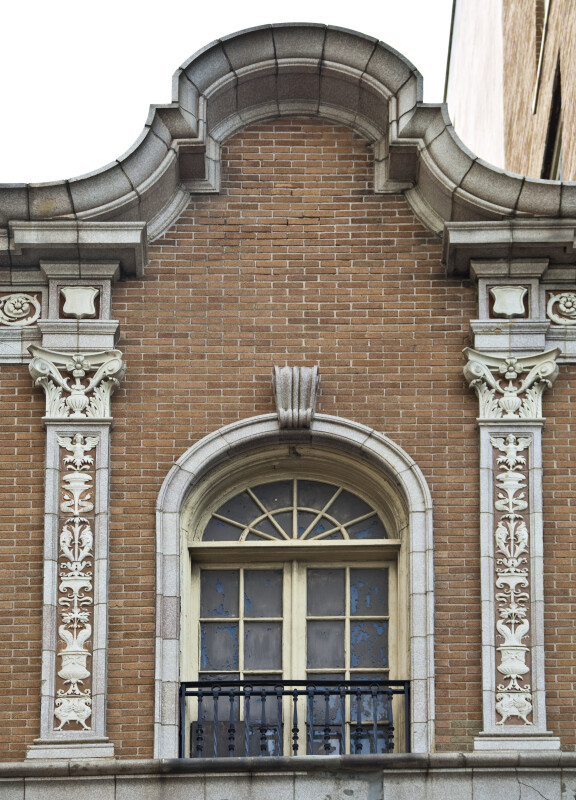 Pilasters That Have Been Embellished with Carved Terracotta