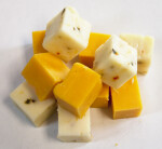 Pile of Cheese Cubes