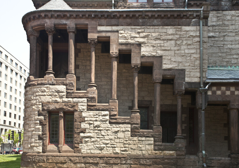 Pillars at Trinity Church in Boston, MA