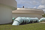 Piping and Aerators at a Wastewater Treatment Plant