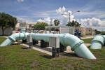 Piping at the Northeast Water Treatment Facility