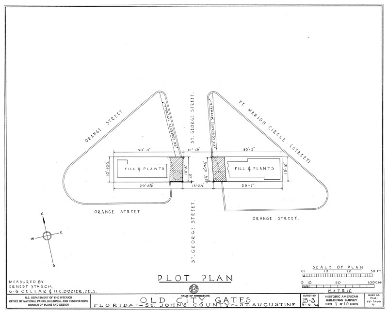 Plan View of Old City Gates