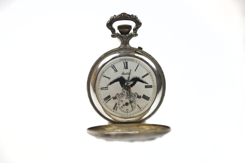 Pocket Watch with Eagle - Open