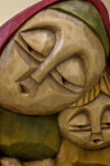 Poland Handcrafted Wood Carving of Madonna and Child (Close Up)