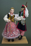 Poland Male and Female Ethnic Dancers Wearing Traditional Costumes (Full View)