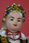 Poland Your Female Dancer with Flower Wreath in Her Hair and Coral Necklace (Close Up)