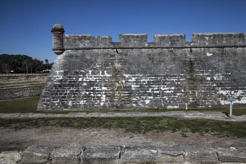 Portion of Castillo de San Marcos' Main Wall