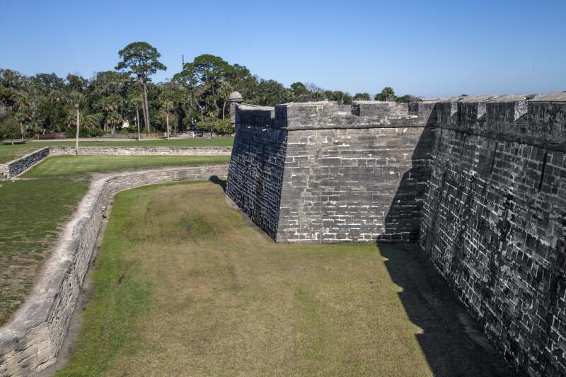 Portion of the Moat at Castillo de San Marcos