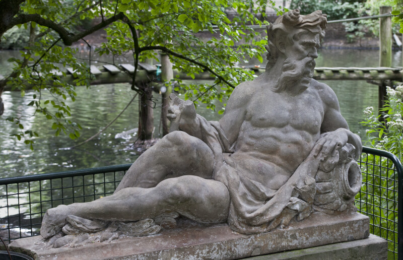 Poseidon Sculpture at the Artis Royal Zoo