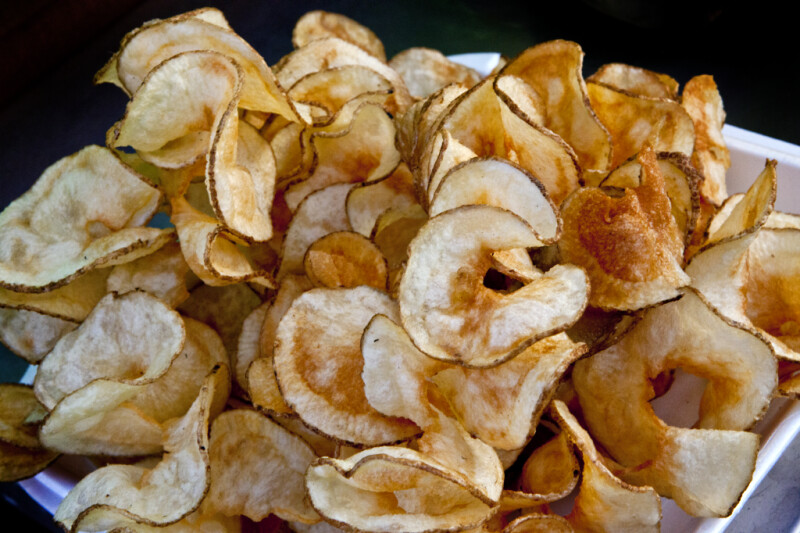Potato Chips in Styrofoam Container