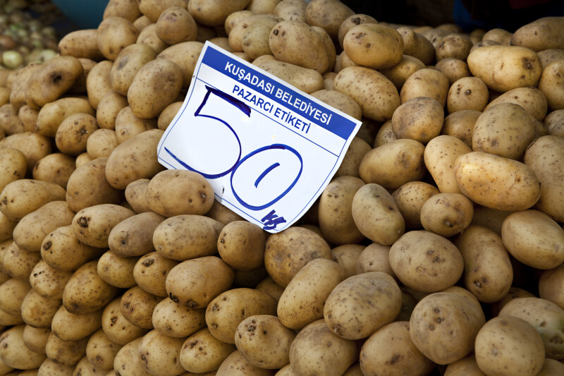 Potatoes and Price Sign