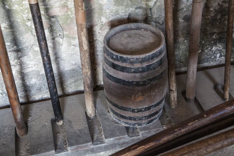 Powder Keg Stored with Artillery Tools