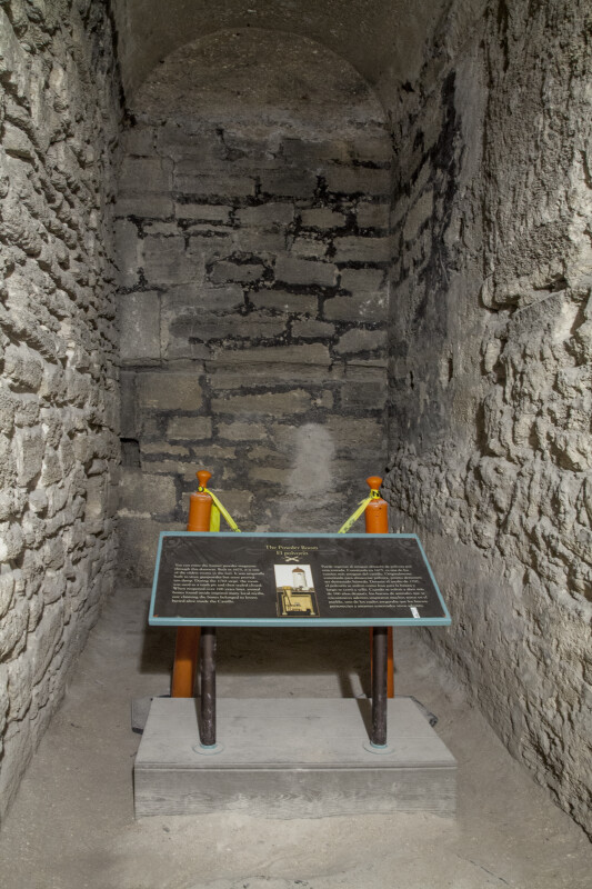 Powder Room at Castillo de San Marcos