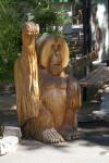 Primate Sculpture at the Sacramento Zoo