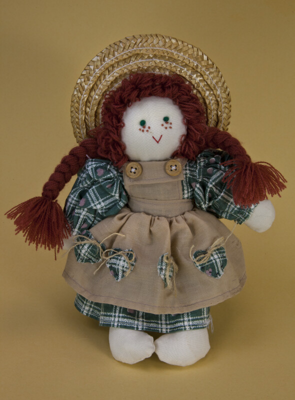 Prince Edward Island Anne of Green Gables Doll with Red Hair and Straw Hat (Full View)