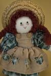 Prince Edward Island Canadian Stuffed Female Figure of Anne of Green Gables (Three Quarter Length)