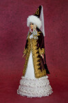 Princess Doll Made with Rubber, Plastic, and Paper (Three Quarter View)