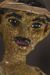 Puerto Rican Paper Mache' Fisherman Figure with Hand Painted Face (Close Up)