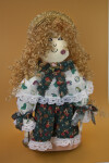 Puerto Rico Girl Doll Hand Made from 1/2 Inch Boards That are Hand Painted (Full View)