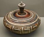 Pyxis with Geometric Designs