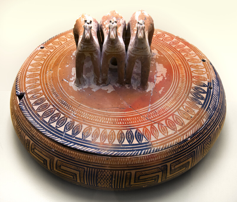 Pyxis with Three Horses on Lid
