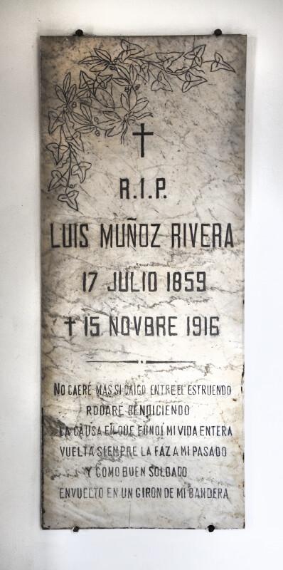 R.I.P. Luis Muñoz Rivera