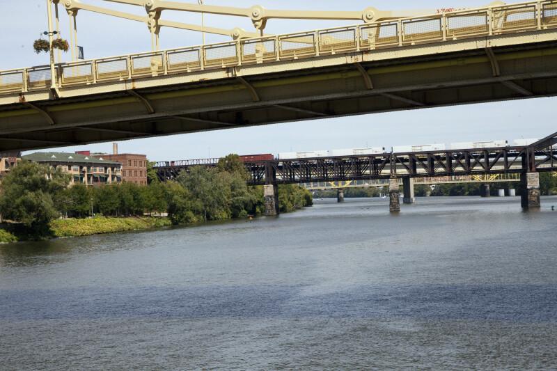 Railroad Bridge and Rachel Carson Bridge