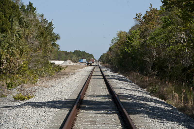 Railroad Tracks at Wildlife Refuge
