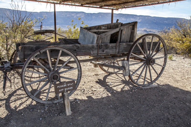 Ramshackle Wagon near the Castolon Store