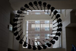 """Rear View of """"Five Easy Pieces"""" Guitars"""