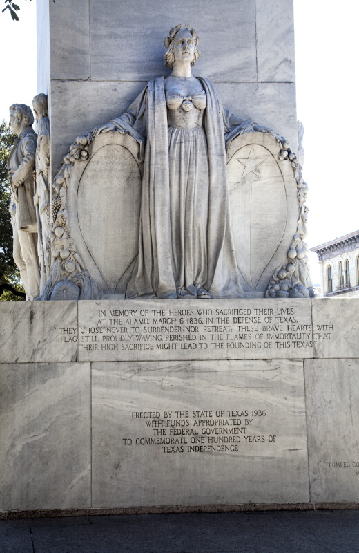 Rear View of the Alamo Cenotaph