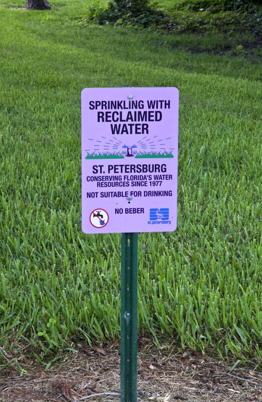 Reclaimed Water Notice