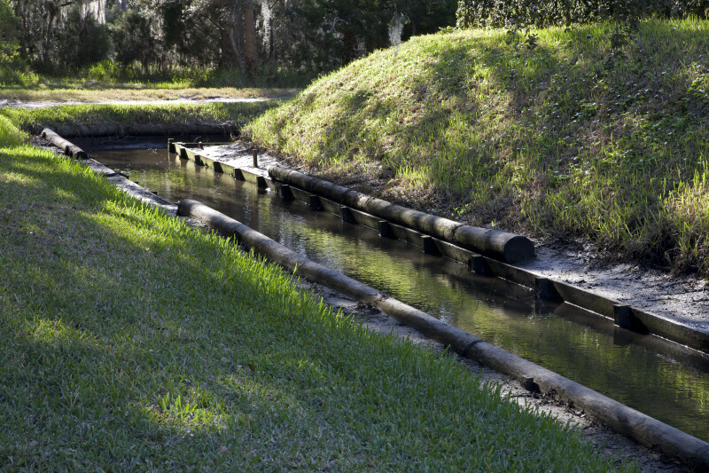 Reconstructed Moat at Fort Caroline National Memorial