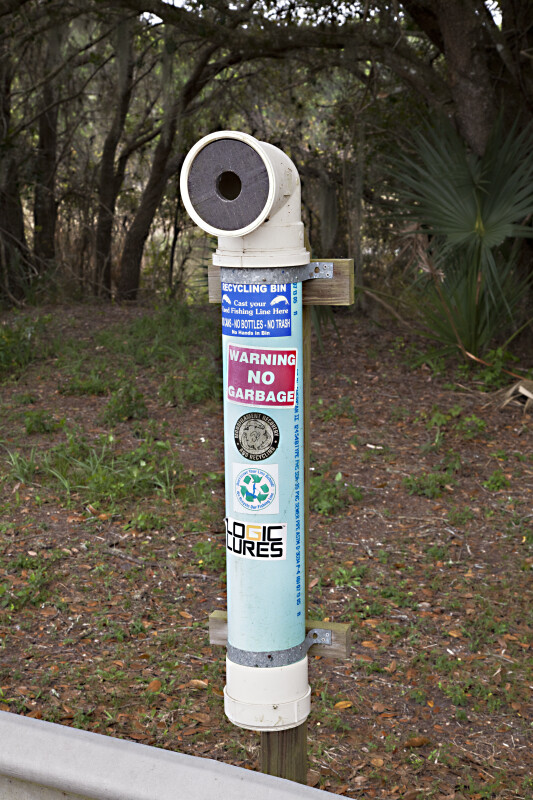 Recycling Bin at Myakka River State Park