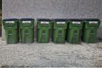 Recycling Bins at a Condo