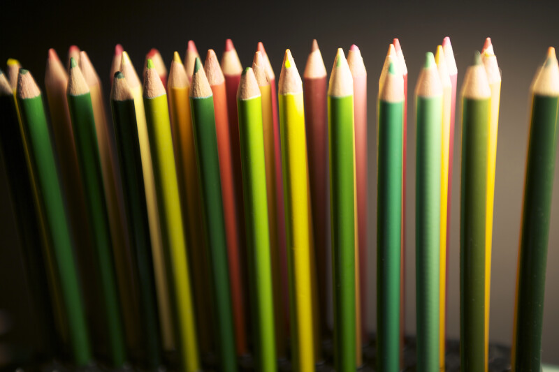 Red and Green Colored Pencils