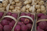 Red and White Potatoes in Baskets