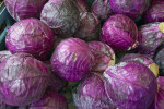 Red Cabbage Heads at Haymarket Square
