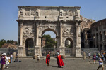 Red Capes at the Arch of Constantine