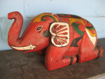 Red Elephant Statue